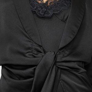 Black Mini Dress with Lace Slip